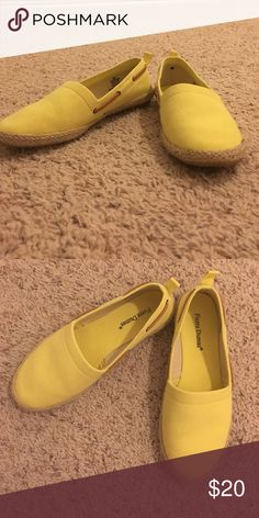Yellow Espadrilles Yellow espadrilles - WORN ONCE Pierre Dumas Shoes Espadrilles