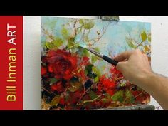 How to paint Abstract Flower Blossoms in Acrylics by Samuel Durkin | Flower painting Lesson. - YouTube