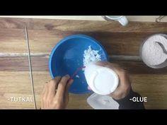 Kağıt Hamuru Yapımı | Heykel Yapmak İçin Hamur - YouTube Sculpture Painting, Slime, Paper Crafts, Clay, Plates, Youtube, Clays, Licence Plates, Dishes