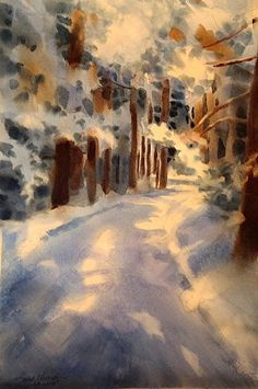Giny's World by Sarah Yeoman Watercolor ~ 21 x 14