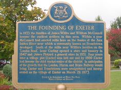 Some history of Exeter, Ontario - which became the home of many settlers from Devon, England