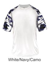 75467fb64ad1e Youth White   Navy Camo Hook Shirt 2141 by Badger Sport at Graham Sporting  Goods (