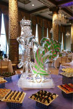 Mr. Candyland ice sculpture