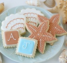 Click Pic for 26 DIY Beach Wedding Ideas | Seaside Cookie Favors | Beach Theme Wedding Decorations