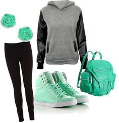 """""""casual and cute."""" by alleyswag on Polyvore"""