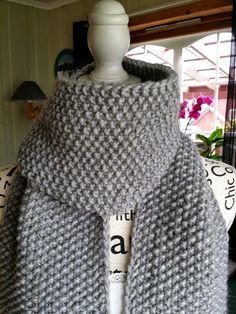 H hobbyside: Grått langskjerf / Michael Kors skjerf Michael Kors, Knitting, Chic, Fashion, Shabby Chic, Moda, Tricot, Fashion Styles, Cast On Knitting