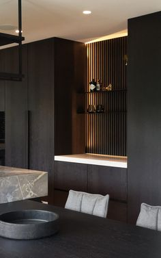 Living Room Wall Units, Living Room Interior, Living Room Decor, Pantry Interior, Kitchen Interior, Design Studio, Aesthetic Rooms, Modern Kitchen Design, Villa