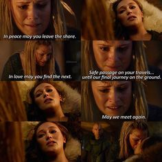 Ok so I'm a full hearted bellarke shipper but this killed me. I cried and literally broke inside. I mean what's the 100 without Lexa? << I don't ship Clexa either but anyways this is fucking heartbreaking Lexa The 100, The 100 Clexa, The 100 Cast, The 100 Show, The 100 Quotes, Tv Quotes, The 100 Serie, 100 Memes, Clarke And Lexa