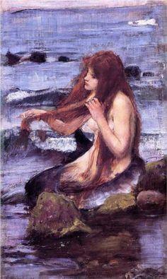 Sketch for A Mermaid - John William Waterhouse