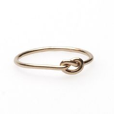 Knot Ring Gold Fill now featured on Fab.