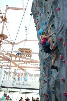 Rock Climbing Wall on Norwegian Getaway: why the NCL is the ultimate family getaway!