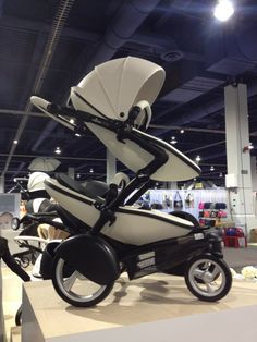 """133 Baby Products Not Even in Stores Yet!: How pretty are Comotomo's new silicone pacifiers? They're covered in daisies!: Mima also offers a Winter """"outfit"""" that will keep tots snug as a bug in a rug! : Spanish stroller-maker Mima's US debut will include the Kobi. The leatherette stroller accommodates up to two kids (the second seat can be added on at a later date) and comes in this snow-white kit. ."""