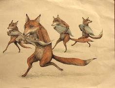 """Run for It"" by Erica il Cane. Love this. Her animals are just so whimsical."