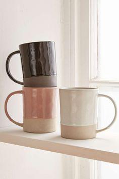 Magical Thinking Dipped Glazed Mugs Pottery Mugs, Ceramic Pottery, Thrown Pottery, Slab Pottery, Cerámica Ideas, Cute Coffee Mugs, Coffee Cup, Large Coffee Mugs, Ceramic Cups