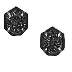 Kendra Scott Logan Stud Earrings in Black Drusy