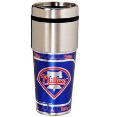MLB Philadelphia Phillies 16 oz Travel Tumbler, Multicolor