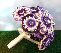 Felt and button bouquet
