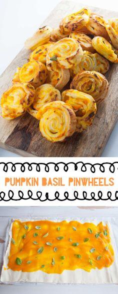 Vegan Pumpkin Basil Pinwheels   ElephantasticVegan.com