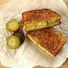 Vegan Pickle Grilled Cheese