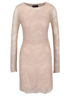 Rochie roz Mela London din dantelă