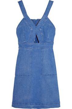 Stella McCartneyCutout denim mini dress #StellaMcCartney