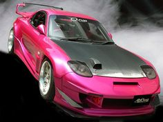 ABFLUG Pink Mazda RX-7. I would drive the shit out of this car!