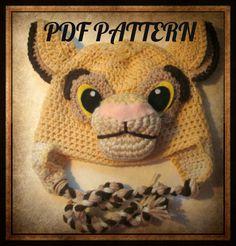 001641160fd Instant PDF crochet pattern Simba Inspired hat pattern kids