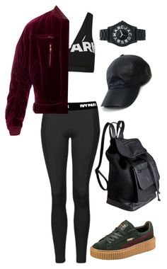 Sans titre #1199 by frenchystyle on Polyvore featuring polyvore, fashion, style, Topshop, Puma, Pieces, Marc by Marc Jacobs, Vianel, Haider Ackermann and clothing