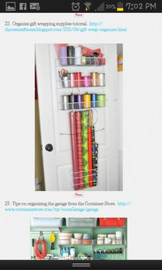Great way to store wrapping paper