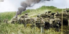 M4A1 Sherman tanks of the 1st Cavalry Division's 603rd Light Medium Tank Company supporting the 162nd Infantry Regiment, 41st Infantry Division in Hollandia, New Guinea. April 22 1944 The nearest tank...