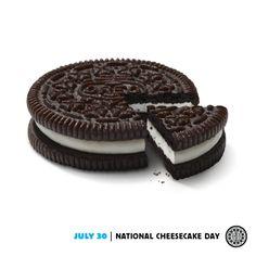 Oreo Cake, Oreo Cheesecake, Oreo Cookies, National Cheesecake Day, Web Design, Graphic Design, Photoshop Design, Something Sweet, Sweet Treats