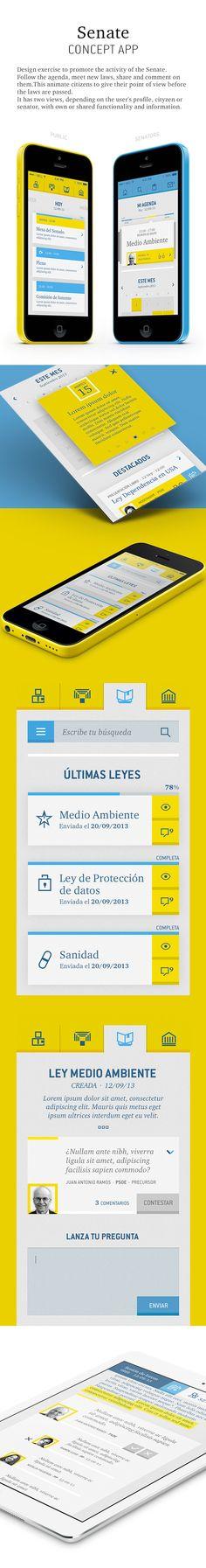 Senate by Alejandro Avilés, via Behance