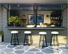 Just open up the windows, have an extended counter ledge, pull up bar stools…and you are serving burgers in no time! Description from acme-re.com. I searched for this on bing.com/images