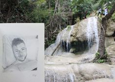 Let's go the Waterfall to level up 7 😣🌾🏊💦 very eojey LoL. @colbymelvin❤❤ by kho the drawing. #travel #Thailand #bangkok #beautiful #waterfall #nature #great #gaymen #guy #gay #LoL #love #drawing #art #sketch #sketchbook #drawings #keep #eojey #happy #kanchanaburi
