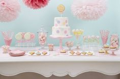 "Peggy Porschen sweet table via Cake Geek Online Magazine.  See the full feature ""Sweet Table Styling"" here: http://cakegeek.co.uk/index.php/sweet-table-styling/"