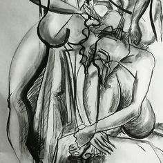 Something of my evening drawing in my cubistic's style.. #cubisticladies #cubismo #womeninart #umenienaslovensku #umenie #drawing #kresba #lujmari @lujmari