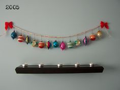 cute idea for displaying ornaments.