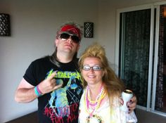 Our great supstar directors gil and his wife Sarah - rocking it out before there Scentsy incentive trip 70s night in Punta Cana Dominican Republic June 2012.