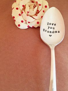 Love you Grandma Spoon  Hand Stamped Vintage by LoveleighDetails