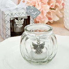 Angel themed clear glass round globe candle holder 40 ** Be sure to check out this awesome product.