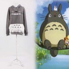 Totoro Hoodie My Neighbor Totoro Big Face Hoodie Tee by RnMoMo, $27.99