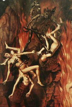 Hieronymus Bosch - Last Judgement Hieronymus Bosch, Arte Horror, Horror Art, Hans Memling, Renaissance Kunst, Pieter Bruegel The Elder, Satanic Art, Jan Van Eyck, Arte Obscura