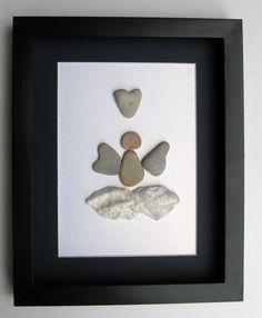 Special Edition Angel Design- Memorial Art - Motivational Gift - Pebble Art - Angel Art on Etsy, $85.00 CAD