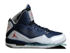 free shipping 893b3 cd226 Air Jordan SC-3 Pas Cher Chaussures Pour Homme Bleu Gris 629877-407