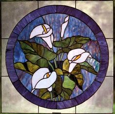 Tiffany Stained Glass | Tiffany Stained Glass Windows, Calla Lily Design