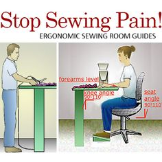 Ergonomic Sewing Guides for less pain while sewing.