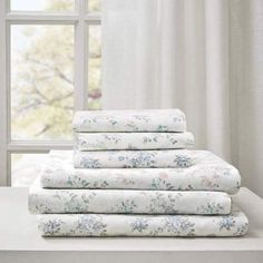 Shop for Madison Park Floral Cotton Garment Wash Printed 6 Piece Bed Sheet Set. Get free delivery On EVERYTHING* Overstock - Your Online Bedding Basics Store! Queen Sheets, Bedding Basics, King Sheet Sets, Cotton Sheet Sets, Bed Sizes, Flat Sheets, Pillow Cases, Bedroom Decor, Park