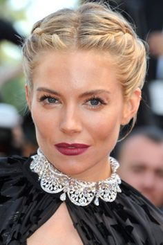 Sienna Miller Wears A Beautiful Braided Updo At Cannes Film Festival 2015