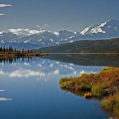 Camp in a rugged wonderland, Alaska