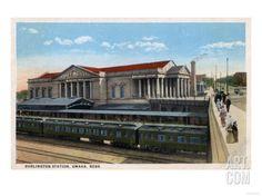 Omaha, Nebraska - Burlington Railroad Station